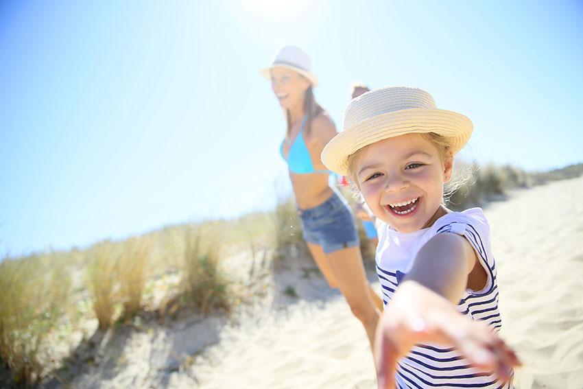 Family beach Crantock Newquay
